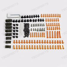 For Kawasaki 223pcs CNC Fairing Bolts Kit Fastener Clip Bodywork Screws Aluminum