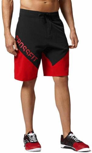 Shorts Size 36 Red//Black Reebok Men/'s Crossfit Cordura ii Training