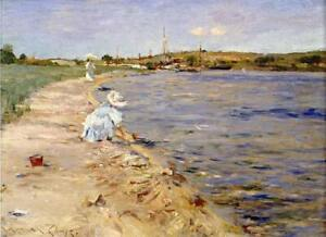 William-Merritt-Chase-Beach-Scene-Fine-Art-Print-on-Canvas-Giclee-Repro-Small