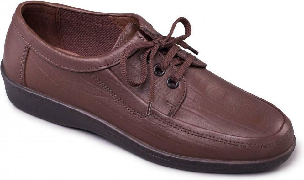 Padders REBEL Mens Leather Standard F 3 Eyelet Lace-Up Padded Casual shoes Brown