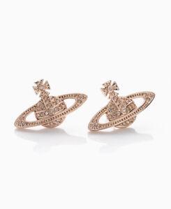 Image Is Loading Vivienne Westwood Bas Orb Rose Gold Earrings