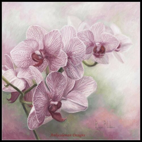 Graceful Orchids DIY Chart Counted Cross Stitch Patterns Needlework