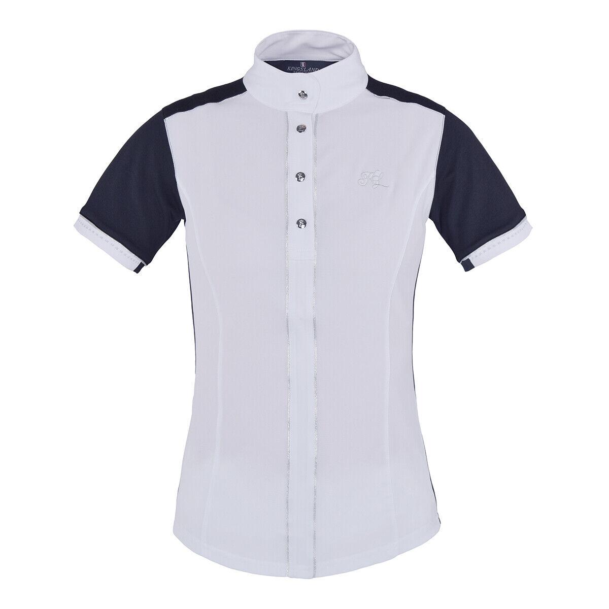 Ladies Kingsland Laurel Short Sleeved Show Shirt - Large - Navy RRP