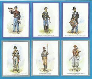 cigarette-trade-cards-UNIFORMS-OF-THE-AMERICAN-CIVIL-WAR-mint-condition-set