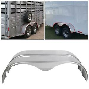 Flat Top Pair Steel Tandem Trailer Fenders 7.5 x 66 inches COPY
