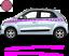 Renault-Twingo-Bandes-Zebres-Stickers-adhesifs-decoration-couleur-au-choix miniature 10