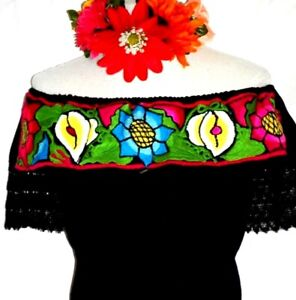 Handmade Mexican Blouse Embroidered 5 de mayo