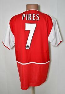 Arsenal-Londra-2002-2003-2004-Calcio-Casa-Maglietta-7-Pires-Nike-taglia-M-adulto