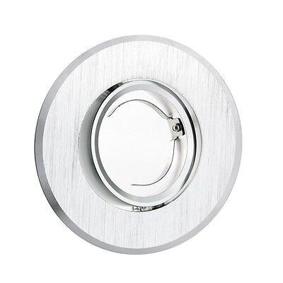 LED Alu-Glas-Einbaustrahler Einbaurahmen Spot GU10 Rund Eckig Metall FAVORITO