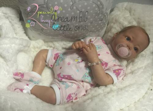 Honeybug PREEMIE Magnetic Pacifier reborn art doll FROSTED YELLOW pastel