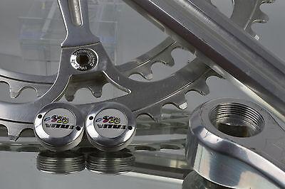 dust caps with Schwinn logo fit shimano campagnolo ofmega suntour crankset