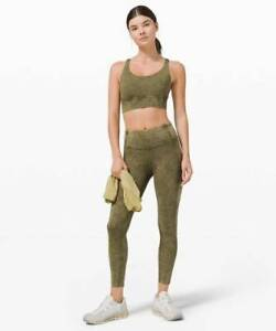 """Fast Free High Rise Tight 25"""" Legging Ice Dye Wash Moss Green Size 6"""