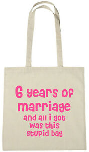 Anniversario Di Matrimonio 6 Anni Regalo.6 Anni Di Matrimonio Borsa 6th Anniversario Di Matrimonio Regalo