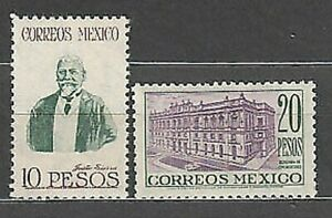 Mexico - Mail 1947 Yvert 618/9 MH