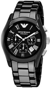 Emporio-Armani-Men-039-s-AR1400-Ceramic-Black-Chronograph-Dial-Watch