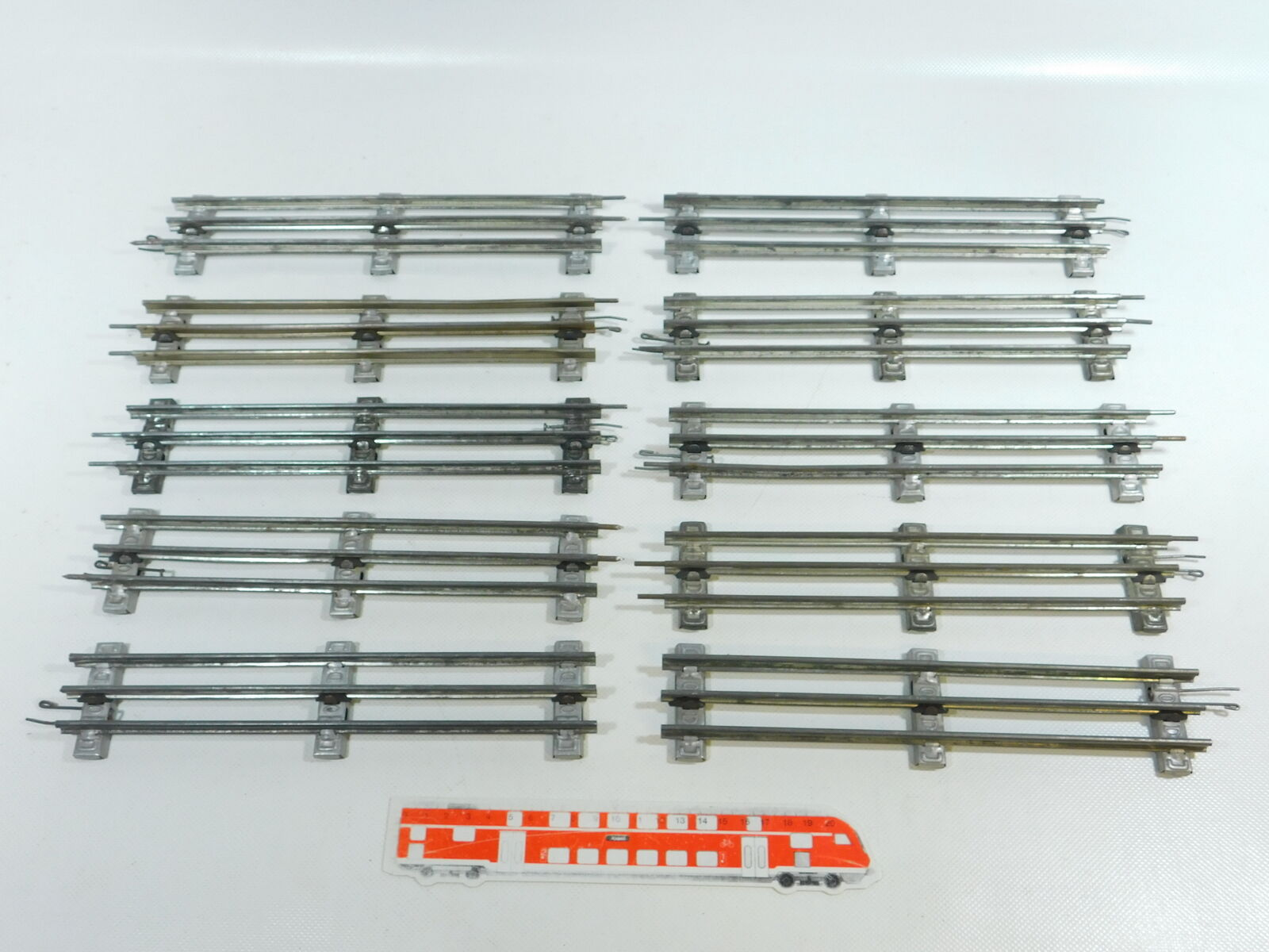 Bw77-2x Märklin pista 0 vía recta (26 cm) para funcionamiento eléctrico