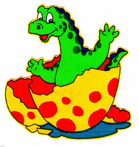 """3.5/"""" Lambs /& ivy lil dino dinosaur fabric applique iron on character"""