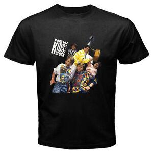 f64bbce286824 New  New Kids On The Block Vintage Logo Men s Black T-Shirt Size S ...
