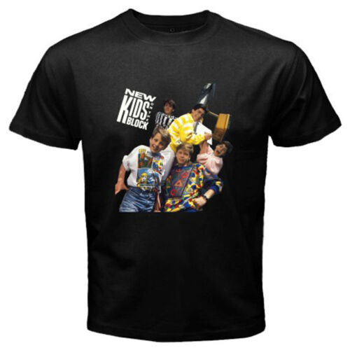 New *New Kids On The Block Vintage Logo Men/'s Black T-Shirt Size S to 3XL
