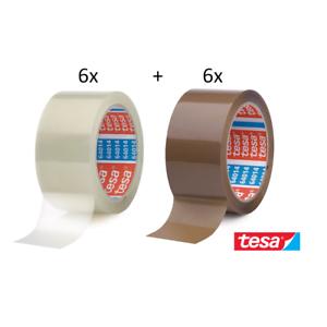 6 Rollen TESA 64014 Klebeband TRANSPARENT leise Packband Paketband Klebebänder