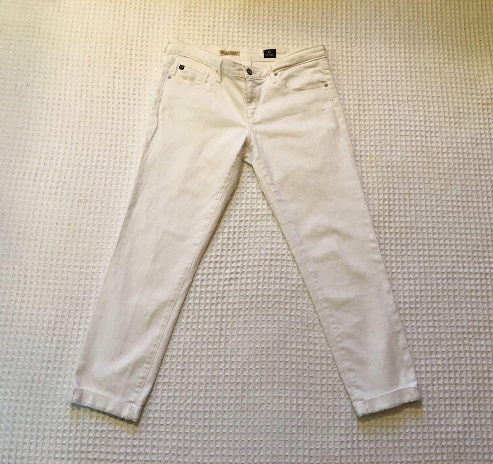 AG Adriano goldschmied The Stilt Roll-up Cigarette Leg Jeans  176 White 30