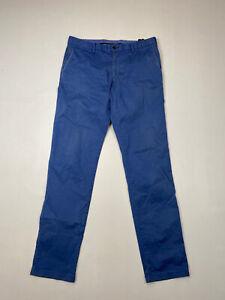 Tommy-Hilfiger-Chino-Hose-w32-l32-blau-super-Zustand-Herren