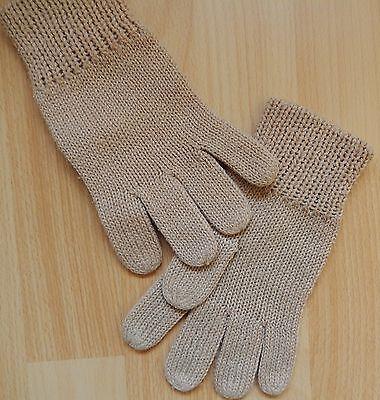 Fingerhandschuhe Braun Ca. 20 Cm Lang Gestrickt AusgewäHltes Material