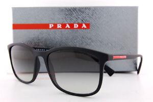 ea93d84995f Brand New Prada Sport Sunglasses PS 01TS DG0 0A7 Black Rubber Gray ...