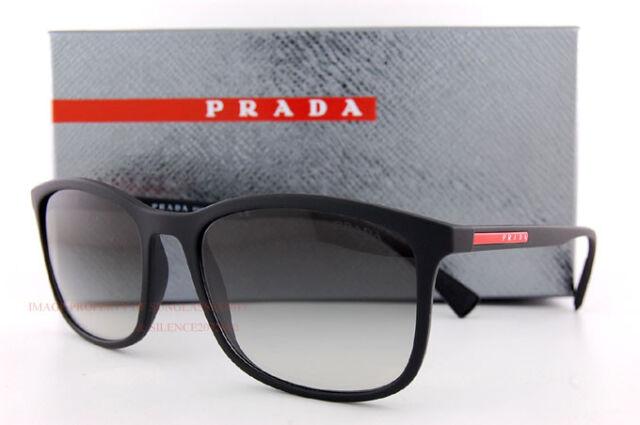 7609d96007 Brand New Prada Sport Sunglasses PS 01TS DG0 0A7 Black Rubber Gray Gradient  Men
