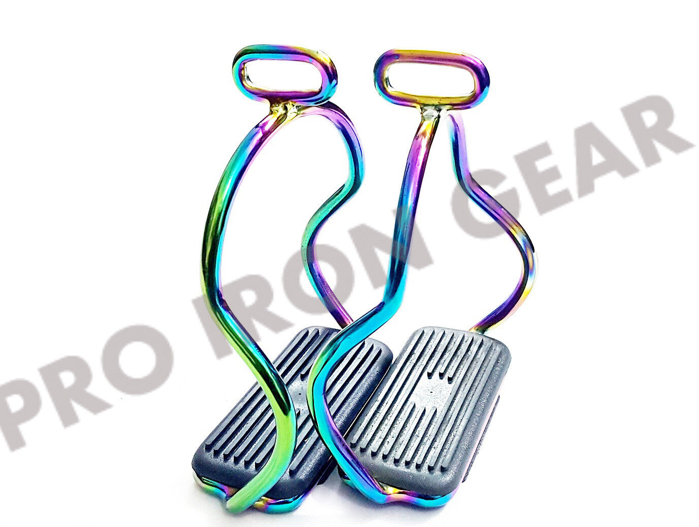 RAINBOW ALUMINUM DOUBLE BENT STIRRUPS HORSE RIDING STEEL STAINLESS STEEL RIDING 72eb86