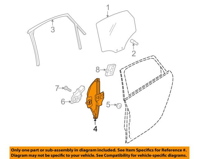 Audi A4 B8 Rear Ns Left Window Regulator 8k0839461a For Sale Online