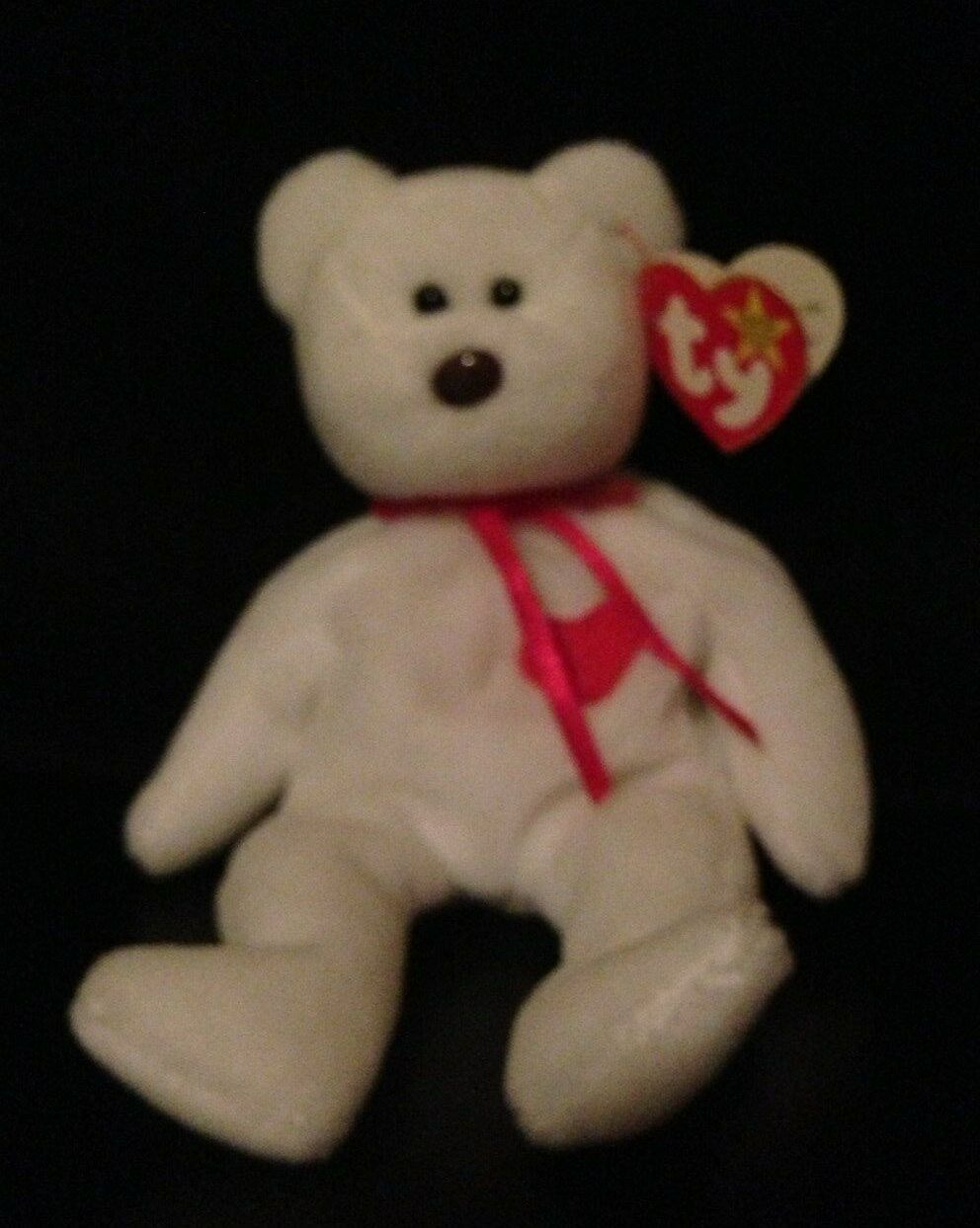 VERY RARE VALENTINO Beanie Baby with Tag Errors   Free Shipping