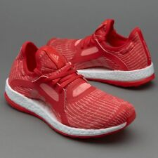 Adidas Women's Pure Boost X Running Shoes Size 10.5 AQ3399 Ray Red/ White