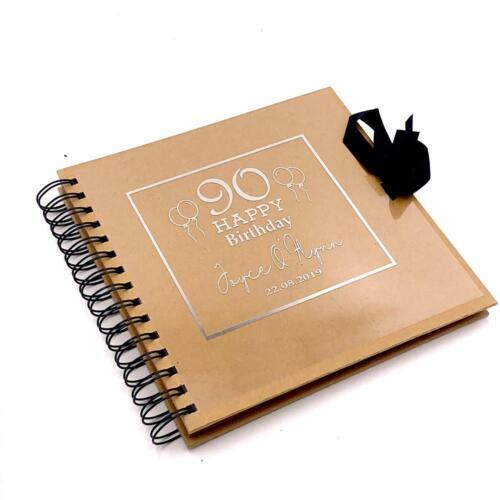 Personalised Marrón Cumpleaños álbum de fotos libro de visitas o Scrapbook brscr-PV-122