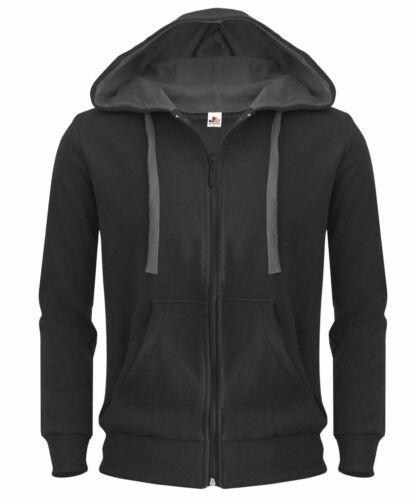 New Plain Mens Hoodie American Fleece Zip Up Jacket Sweatshirt Hooded Top XS-XXL