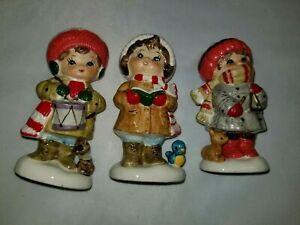 Occupied Japan Figurines Napcoware Christmas Set 3 Ebay