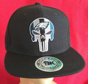 74fc92cb3e7c3 Image is loading Philadelphia-Eagles-Punisher-Snapback-Ball-Cap -Structured-Black-