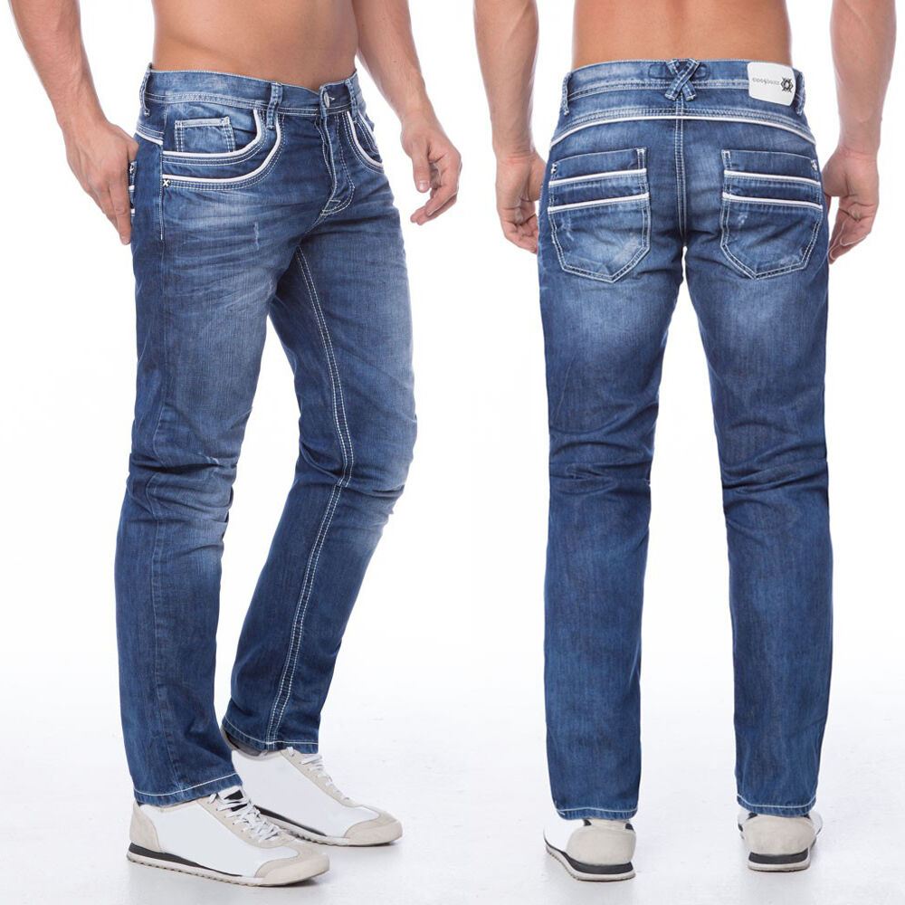 Cipo & Baxx Jeans Regular c-1127 BLU l30 32 34 36 w28 29 30 31 32 33 34 36 38