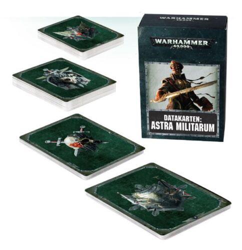 Deutsch Games Workshop Warhammer 40.000 40k 8th NEU Astra Militarum Datakarten