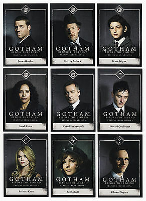 2016 Gotham Before The Legend COMPLETE MASTER SET Season 1 100 CARDS Cryptozoic