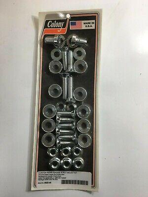 Harley 86-99 Fatboy Rear Fender Strut Mount Kit OEM 59969-86 Chr Colony 9920-46