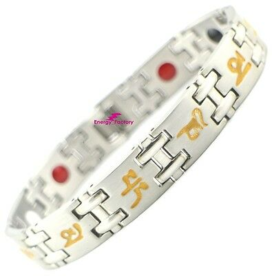Tibetan Magnetic Bracelet Germanium FIR Anion 4in1 Bio Energy Wristband