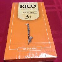 Pack Of 25 Rico Bass Clarinet Reeds 3 1/2 (3.5)