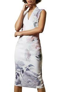 TED-BAKER-LONDON-Bouquet-Floral-Print-Crepe-Midi-Dress