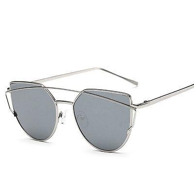 Women's Retro Metal Frame Mirrored Sunglasses Designer Outdoor Glasses Eyewear