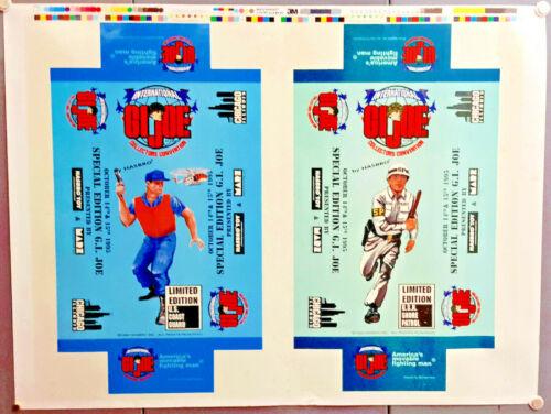 Set 4 International GI Joe Convention Exclusive Figure Uncut Sheets of Box Art