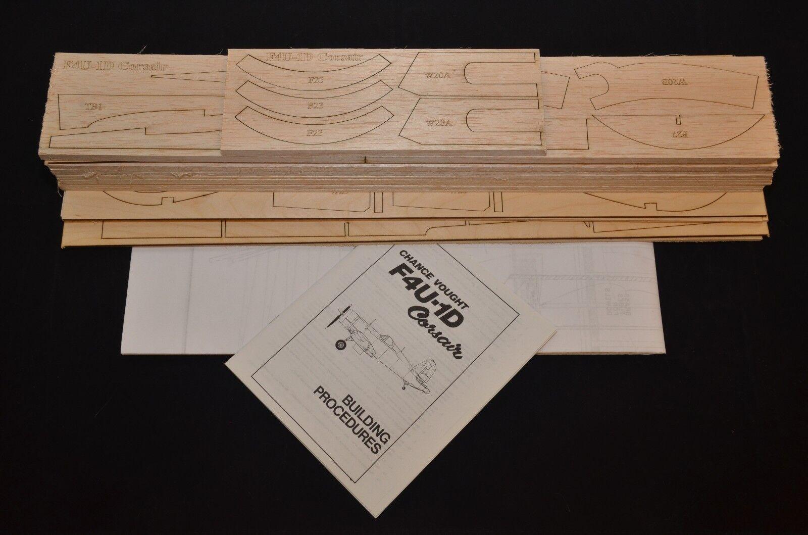 Real 1 8 Escala F4u-1d Corsair Corte Láser Kit, Planes & Instrucción 61.5  Ws