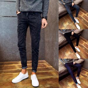 Mens-Denim-Pants-Men-Skinny-Jeans-Jean-Ripped-Fit-Slim-Trousers-Distressed-Biker