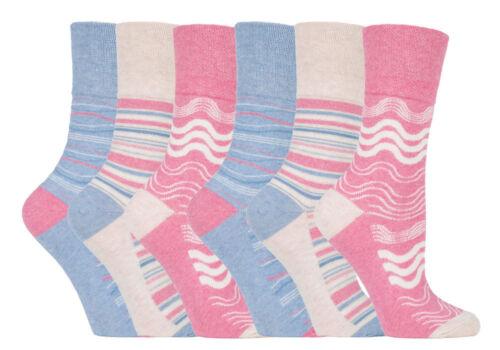 Ladies Women GentleGrip Loose Soft Top Diabetic Non Elastic Socks Floral New lot