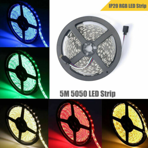 5M 5050 RGB LED Strip Light 300 LED Flexible Mood Light Tape Light Decor Strip